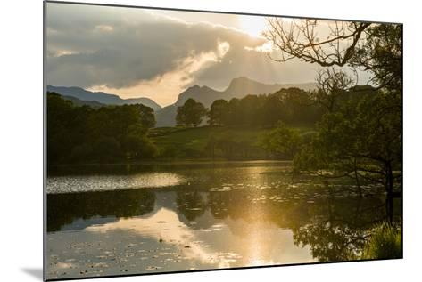 Sunset at Loughrigg Tarn Near Ambleside, Lake District National Park, Cumbria-Alex Treadway-Mounted Photographic Print
