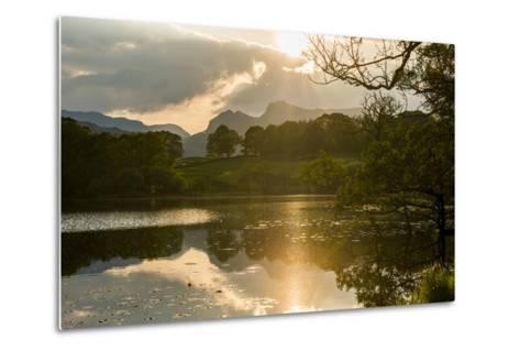 Sunset at Loughrigg Tarn Near Ambleside, Lake District National Park, Cumbria-Alex Treadway-Metal Print