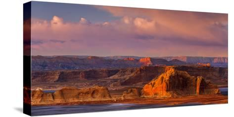 Sunset Illuminates the Rugged Mountainous Outcrops of Grand Staircase-Escalante National Monument-Garry Ridsdale-Stretched Canvas Print