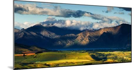 The Plains and Lakes of Otago Region Framed by Cloud Capped Mountains, Otago, South Island-Garry Ridsdale-Mounted Photographic Print