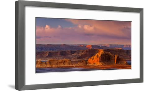 Sunset Illuminates the Rugged Mountainous Outcrops of Grand Staircase-Escalante National Monument-Garry Ridsdale-Framed Art Print
