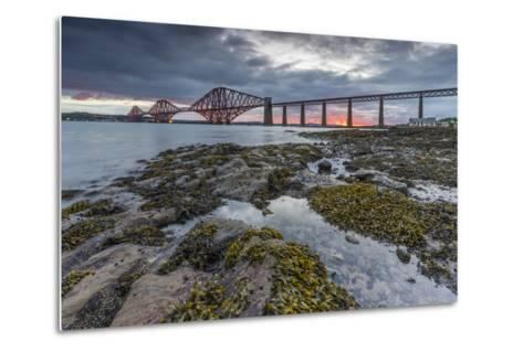 Dawn Breaks over the Forth Rail Bridge, UNESCO World Heritage Site, and the Firth of Forth-Andrew Sproule-Metal Print
