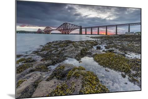 Dawn Breaks over the Forth Rail Bridge, UNESCO World Heritage Site, and the Firth of Forth-Andrew Sproule-Mounted Photographic Print