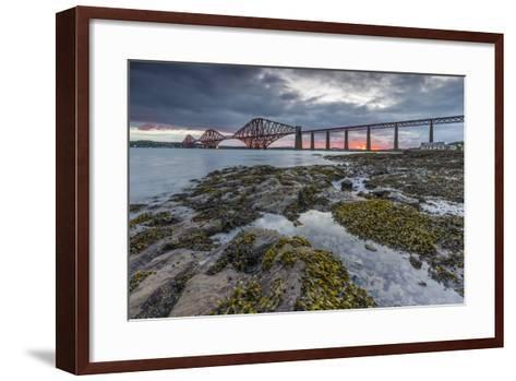 Dawn Breaks over the Forth Rail Bridge, UNESCO World Heritage Site, and the Firth of Forth-Andrew Sproule-Framed Art Print