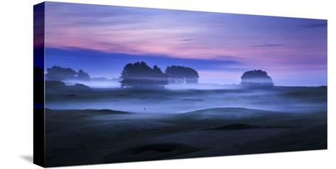 Spring Mist Lies in Cold Undulating Valleys across Greens and Fairways at Delamere Forest Golf Club-Garry Ridsdale-Stretched Canvas Print