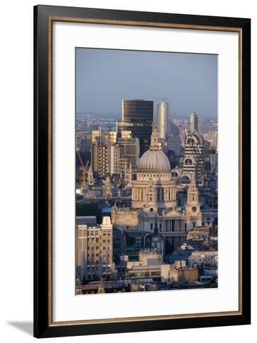 St. Pauls Cathedral and Skyline, London, England, United Kingdom, Europe-Alex Treadway-Framed Art Print