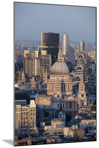 St. Pauls Cathedral and Skyline, London, England, United Kingdom, Europe-Alex Treadway-Mounted Photographic Print