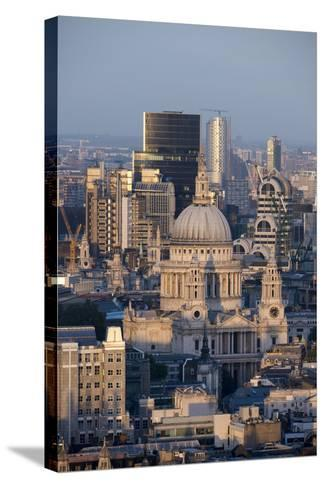 St. Pauls Cathedral and Skyline, London, England, United Kingdom, Europe-Alex Treadway-Stretched Canvas Print