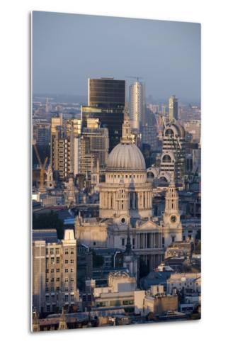 St. Pauls Cathedral and Skyline, London, England, United Kingdom, Europe-Alex Treadway-Metal Print