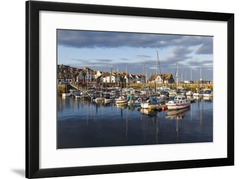 Sailing Boats at Sunset in the Harbour at Anstruther, Fife, East Neuk, Scotland, United Kingdom-Andrew Sproule-Framed Art Print