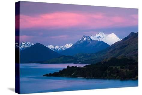 Mount Earnslaw, New Zealand's Southern Alps Against Early Evening Sky Beyond Lake Wakatipu-Garry Ridsdale-Stretched Canvas Print