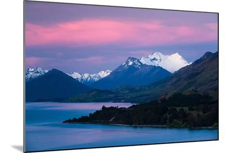 Mount Earnslaw, New Zealand's Southern Alps Against Early Evening Sky Beyond Lake Wakatipu-Garry Ridsdale-Mounted Photographic Print