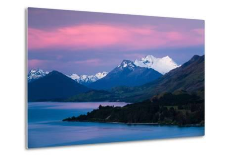 Mount Earnslaw, New Zealand's Southern Alps Against Early Evening Sky Beyond Lake Wakatipu-Garry Ridsdale-Metal Print