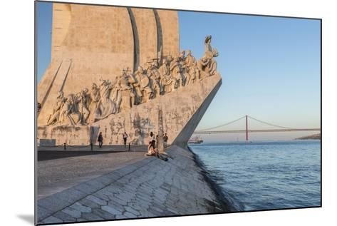 Sunset on the Padrao Dos Descobrimentos (Monument to the Discoveries) by the Tagus River, Belem-Roberto Moiola-Mounted Photographic Print
