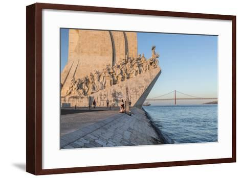 Sunset on the Padrao Dos Descobrimentos (Monument to the Discoveries) by the Tagus River, Belem-Roberto Moiola-Framed Art Print