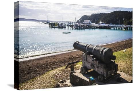 Old Cannon Used to Defend Russell in 1845, Bay of Islands, Northland Region-Matthew Williams-Ellis-Stretched Canvas Print