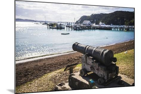 Old Cannon Used to Defend Russell in 1845, Bay of Islands, Northland Region-Matthew Williams-Ellis-Mounted Photographic Print