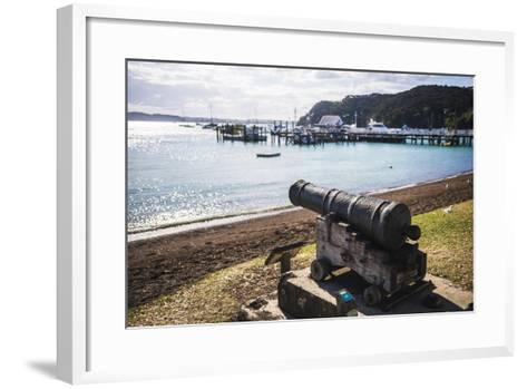 Old Cannon Used to Defend Russell in 1845, Bay of Islands, Northland Region-Matthew Williams-Ellis-Framed Art Print
