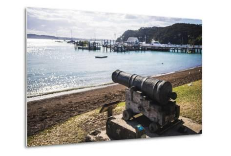 Old Cannon Used to Defend Russell in 1845, Bay of Islands, Northland Region-Matthew Williams-Ellis-Metal Print