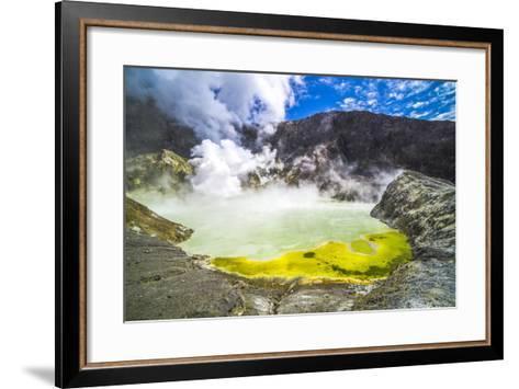 Acid Crater Lake, White Island Volcano, an Active Volcano in the Bay of Plenty-Matthew Williams-Ellis-Framed Art Print