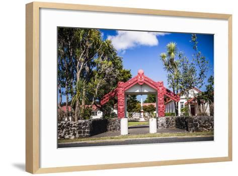 Maori Church, Waitangi Treaty Grounds, Bay of Islands, Northland Region, North Island-Matthew Williams-Ellis-Framed Art Print
