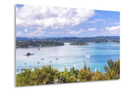 Bay of Islands Seen from Flagstaff Hill in Russell, Northland Region, North Island-Matthew Williams-Ellis-Metal Print