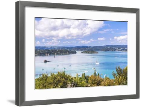 Bay of Islands Seen from Flagstaff Hill in Russell, Northland Region, North Island-Matthew Williams-Ellis-Framed Art Print