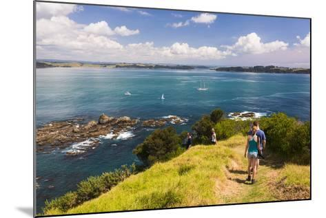 Family Walking on Tapeka Point, Russell, Northland Region, North Island, New Zealand, Pacific-Matthew Williams-Ellis-Mounted Photographic Print