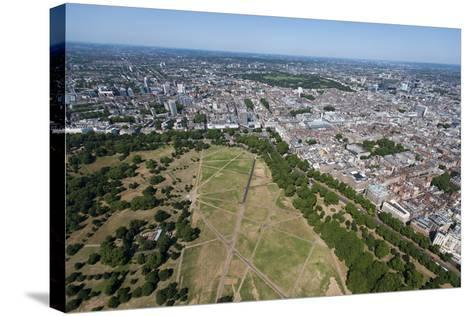 Aerial View of Hyde Park and London, England, United Kingdom, Europe-Alex Treadway-Stretched Canvas Print