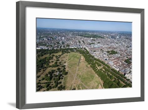 Aerial View of Hyde Park and London, England, United Kingdom, Europe-Alex Treadway-Framed Art Print
