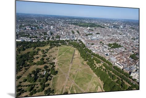 Aerial View of Hyde Park and London, England, United Kingdom, Europe-Alex Treadway-Mounted Photographic Print