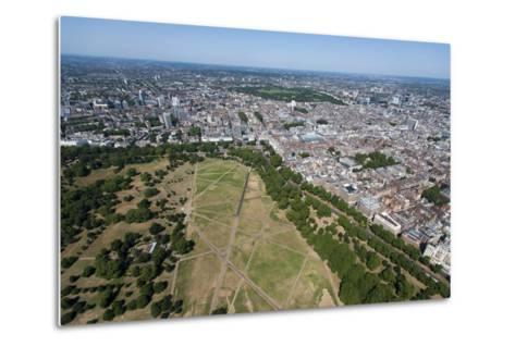 Aerial View of Hyde Park and London, England, United Kingdom, Europe-Alex Treadway-Metal Print