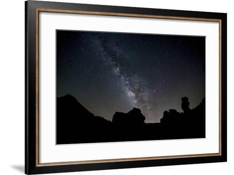 The Milky Way Arches High in the Night Sky Above Roques De Garcia in Teide National Park-Garry Ridsdale-Framed Art Print