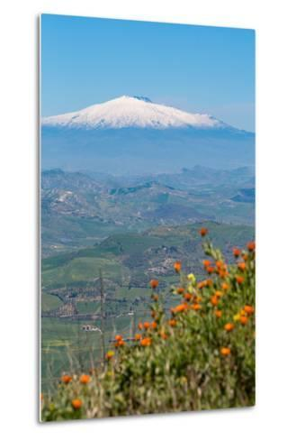 The Awe Inspiring Mount Etna, UNESCO World Heritage Site and Europe's Tallest Active Volcano-Martin Child-Metal Print