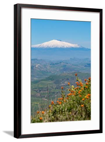 The Awe Inspiring Mount Etna, UNESCO World Heritage Site and Europe's Tallest Active Volcano-Martin Child-Framed Art Print