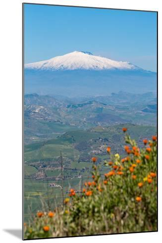 The Awe Inspiring Mount Etna, UNESCO World Heritage Site and Europe's Tallest Active Volcano-Martin Child-Mounted Photographic Print