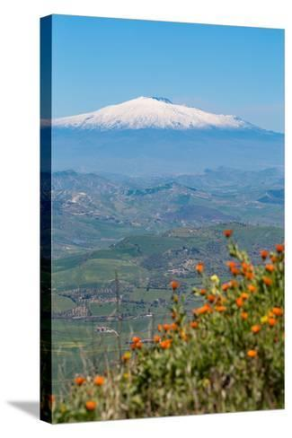 The Awe Inspiring Mount Etna, UNESCO World Heritage Site and Europe's Tallest Active Volcano-Martin Child-Stretched Canvas Print