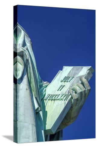 Statue of Liberty, Liberty Island, Manhattan, New York, United States of America, North America-Alan Copson-Stretched Canvas Print