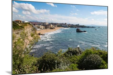 The Beach and Seafront in Biarritz, Pyrenees Atlantiques, Aquitaine, France, Europe-Martin Child-Mounted Photographic Print