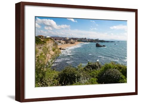 The Beach and Seafront in Biarritz, Pyrenees Atlantiques, Aquitaine, France, Europe-Martin Child-Framed Art Print