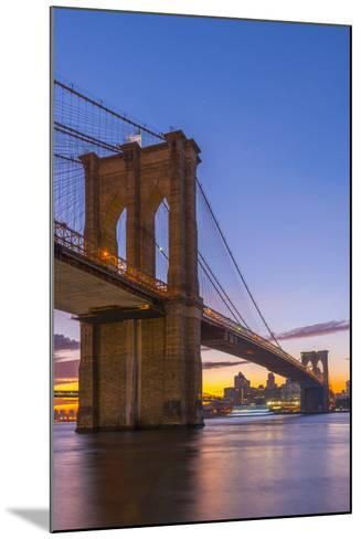 Brooklyn Bridge over East River, New York, United States of America, North America-Alan Copson-Mounted Photographic Print