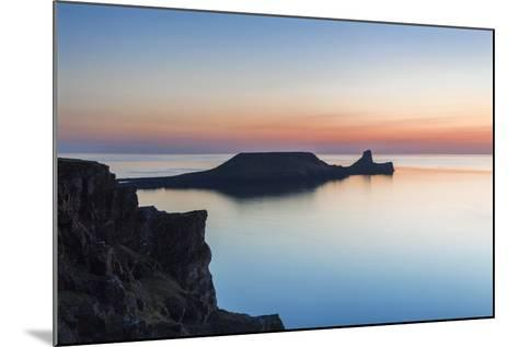 Worms Head, Rhossili Bay, Gower, Wales, United Kingdom, Europe-Billy Stock-Mounted Photographic Print