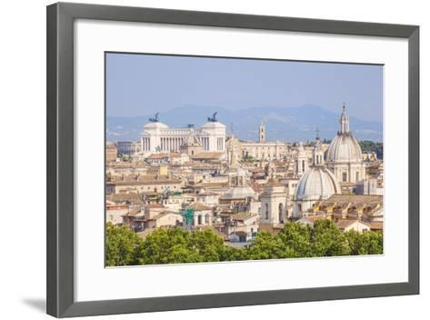Churches and Domes of the Rome Skyline Showing Victor Emmanuel Ii Monument in the Distance, Rome-Neale Clark-Framed Art Print