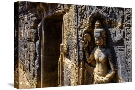 Vat Nokor, Angkorian Sanctuary Dated 11th Century, Kompong Cham (Kampong Cham), Cambodia, Indochina-Nathalie Cuvelier-Stretched Canvas Print