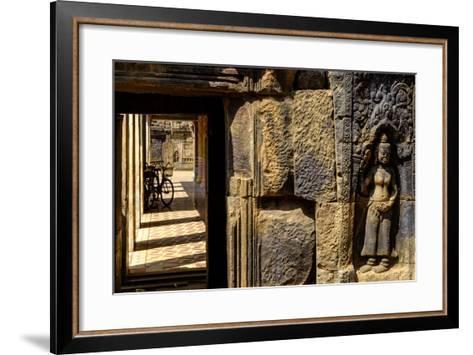 Vat Nokor, Angkorian Sanctuary Dated 11th Century, Kompong Cham (Kampong Cham), Cambodia, Indochina-Nathalie Cuvelier-Framed Art Print