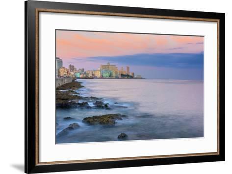 The Malecon, Havana, Cuba, West Indies, Caribbean, Central America-Alan Copson-Framed Art Print
