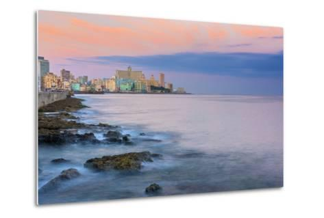 The Malecon, Havana, Cuba, West Indies, Caribbean, Central America-Alan Copson-Metal Print