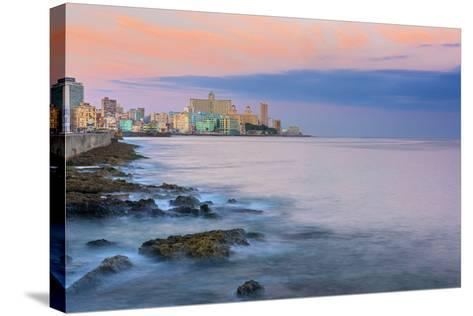 The Malecon, Havana, Cuba, West Indies, Caribbean, Central America-Alan Copson-Stretched Canvas Print