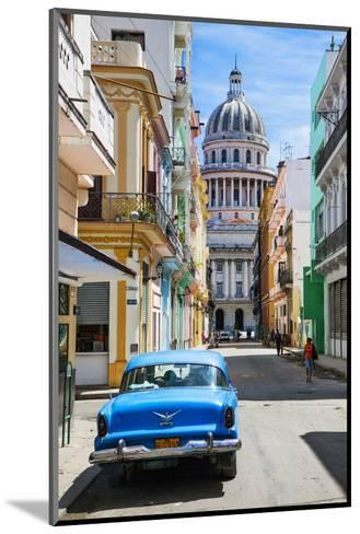 A Classic Car Parked on Street Next to Colonial Buildings with Former Parliament Building-Sean Cooper-Mounted Photographic Print