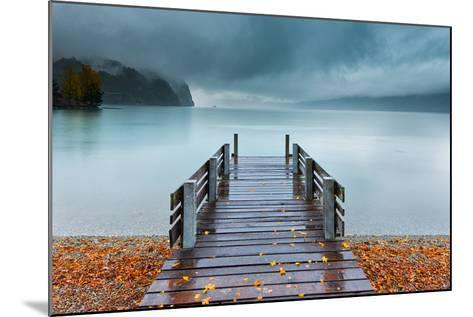 An Autumn Storm Rolls in across Lake Brienz from the Mountains of the Bernese Oberland-Garry Ridsdale-Mounted Photographic Print